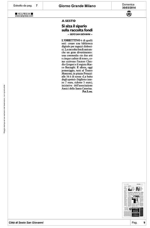 Articolo Il Giorno 2014-03-30