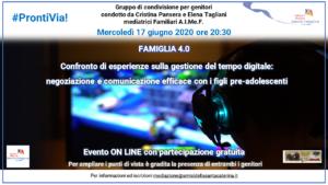 #ProntiVia! Famiglia 4.0 @ On Line - Zoom