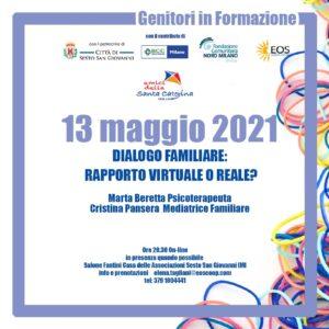 Genitori in Form-Azione 13 Maggio @ Casa delle Associazioni - Salone Fantini